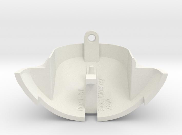 VW Vanagon mirror end cap 3d printed White solid plastic.