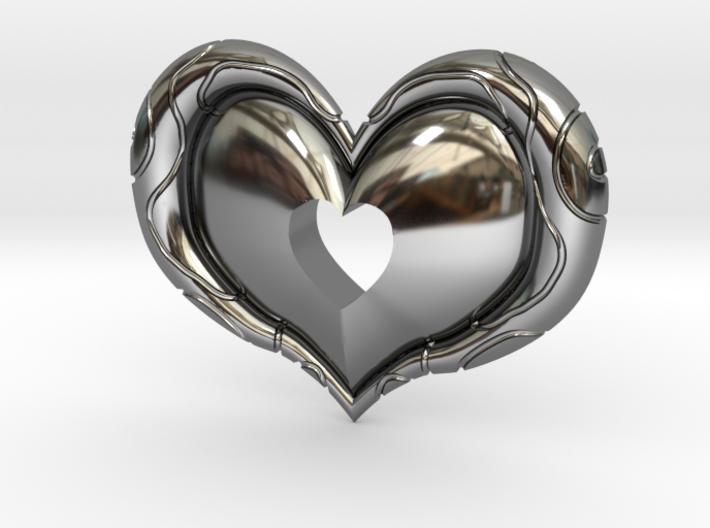 Twilight Princess Heart Piece Cut Out 3d printed