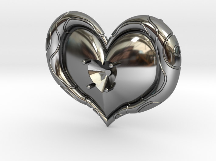 Twilight Princess Heart Container Gem Setting 3d printed