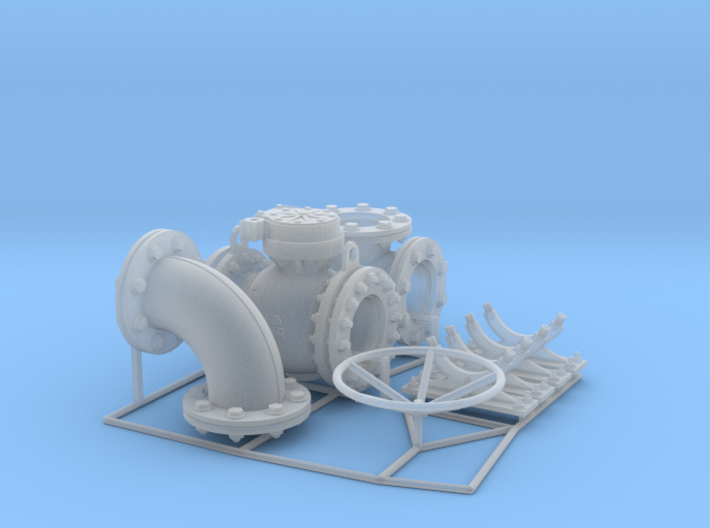 Pipeline accessory system Set 1 3d printed