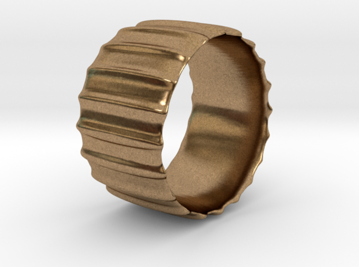 SHELL Inspired Ring in Brass | Silver | Bronze. 3d printed
