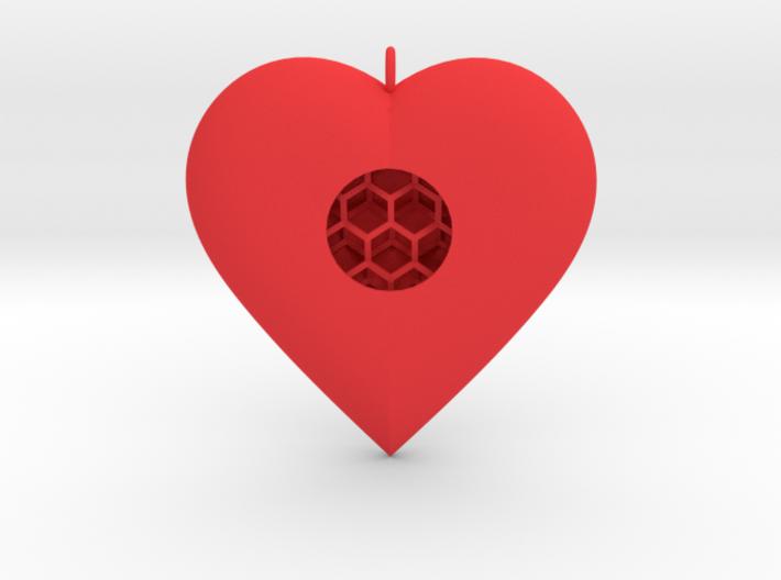 Diamond Heart Pendant 3d printed