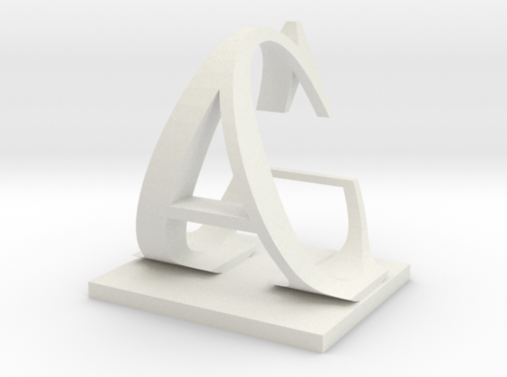 Two way letter / initial C&A 3d printed