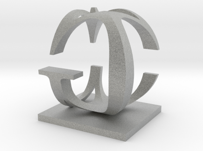 Two way letter / initial C&G 3d printed