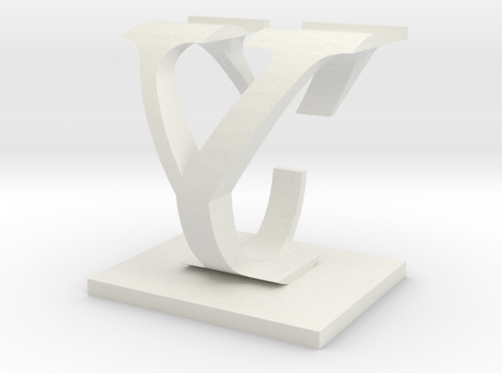 Two way letter / initial C&Y 3d printed