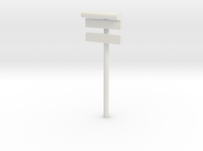 1/160 - DSB Stations lampe med stations skilt og u 3d printed