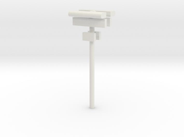 1/160 - DSB Stations lampe (dobbelt) med skilt og 3d printed