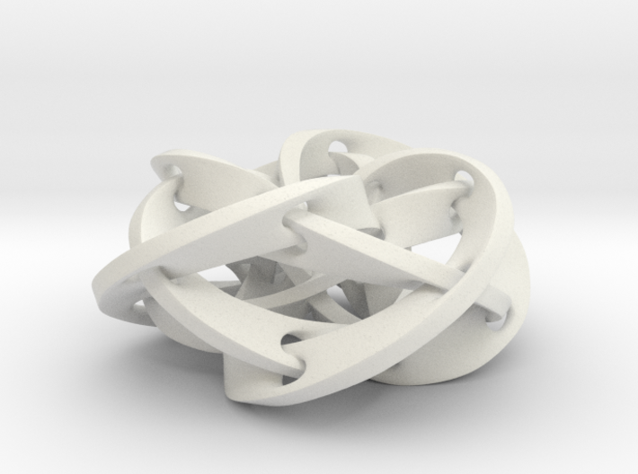 Knotted Torus Woven Together Smaller 3d printed