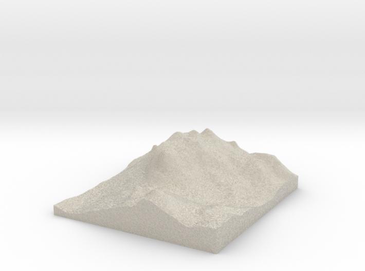 Model of Mount Rushmore Memorial 3d printed