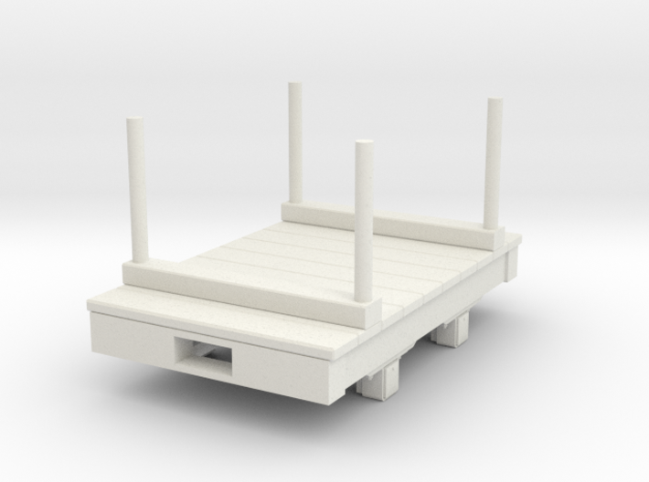 Gn15 small 5ft double bolster wagon 3d printed