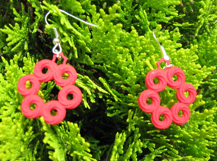 Coil Variation 4 Earrings 3d printed