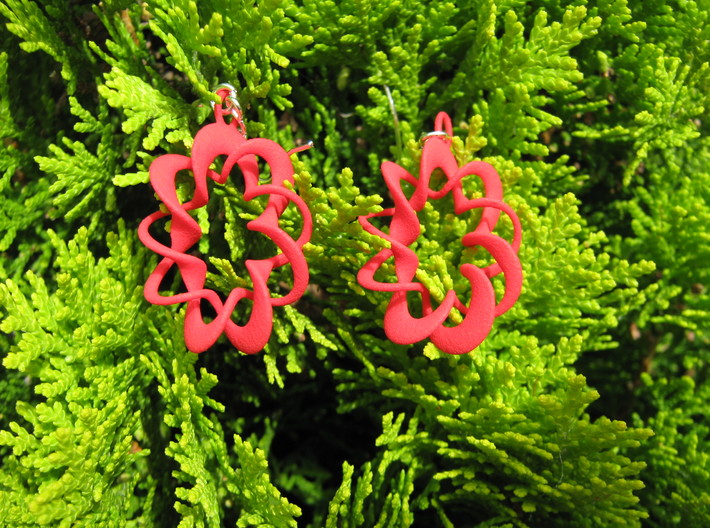 Coil Variation 1 Earrings 3d printed