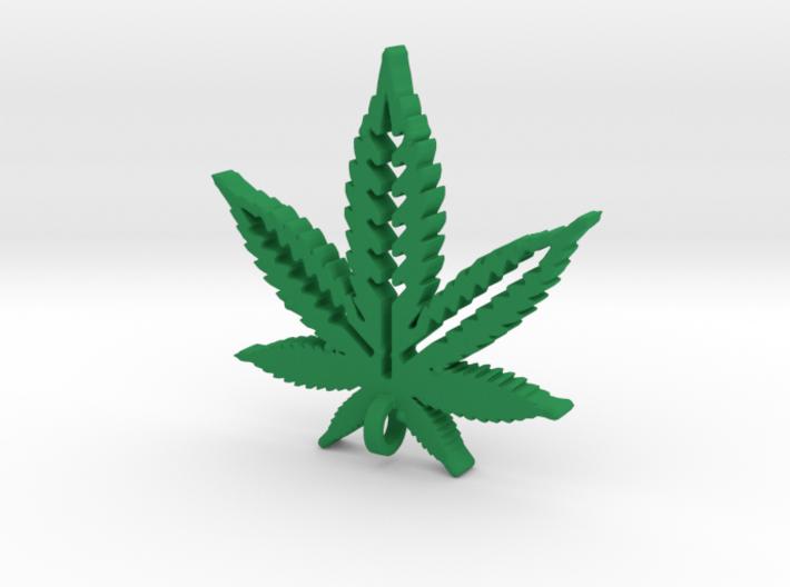 Marijuana Pendant 3d printed