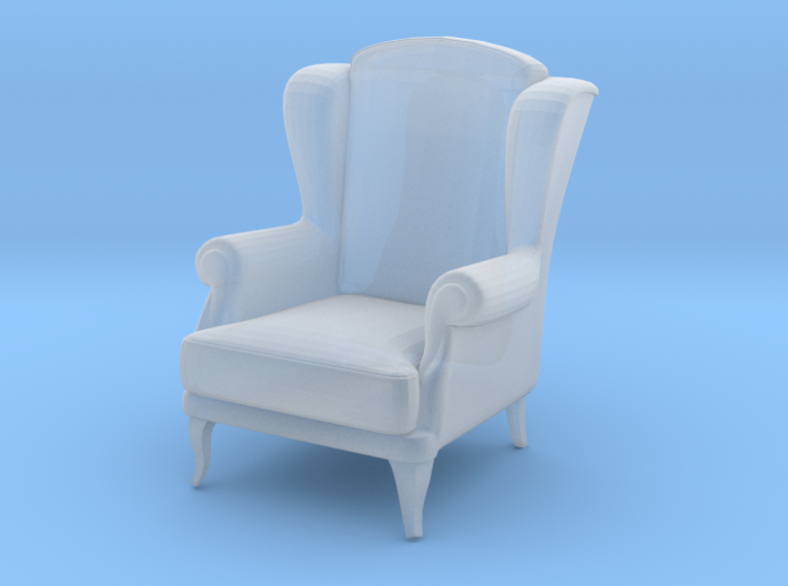 Miniature 1:48 Wingback Chair 3d printed