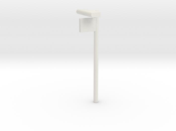 1/160 - DSB Stations lampe med Perronafsnits skilt 3d printed