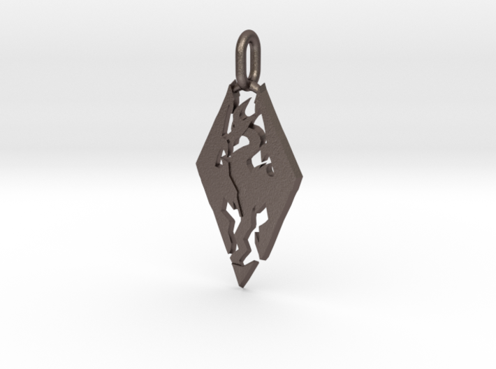 Skyrim Pendant 3d printed