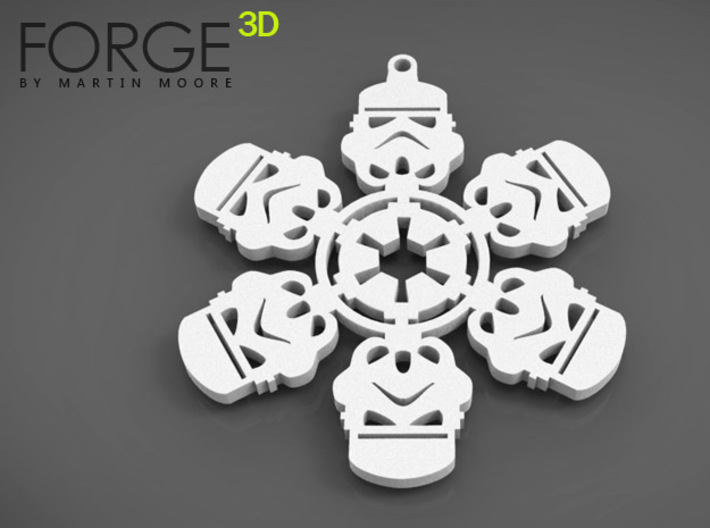 STORMTROOPER christmas snowflake decoration 3d printed