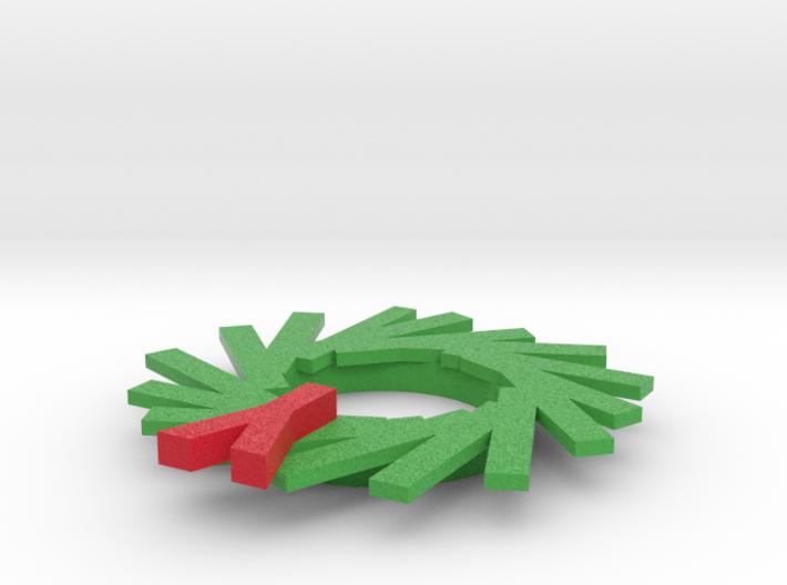 Wreath Ornament 3d printed