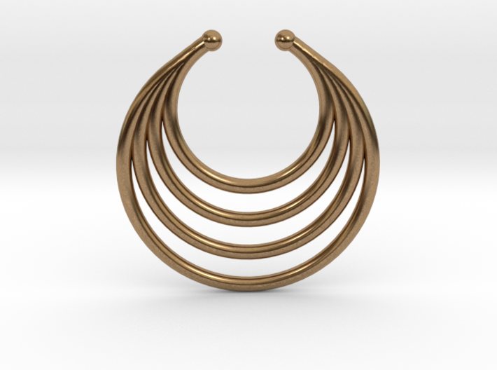 Faux Septum - Dropped Rings 3d printed