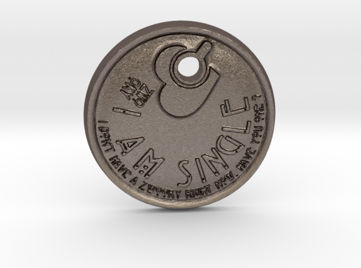 """ZWOOKY keychain """"I am single"""" - ready to start 3d printed"""