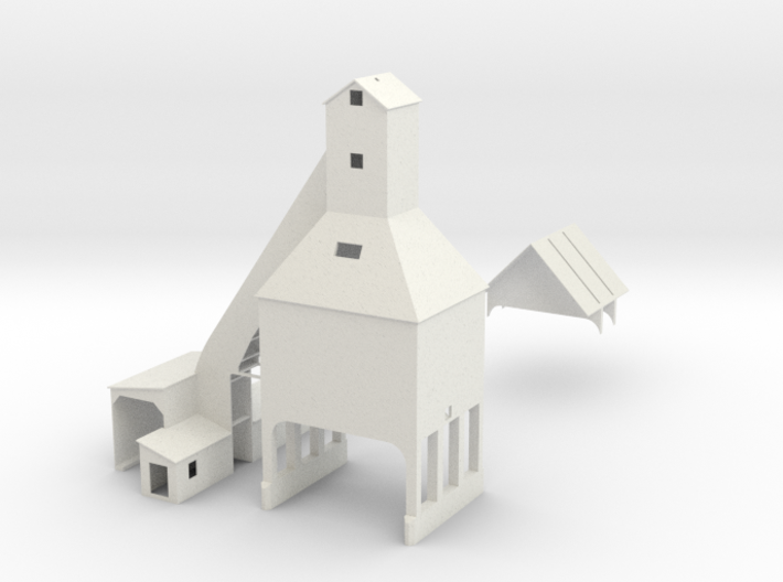 HO Scale Michigan City Coal Tower 3d printed