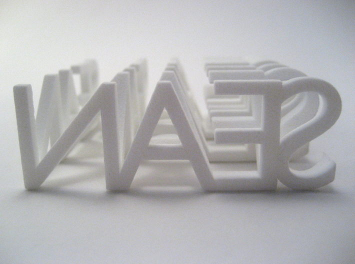 2-Way Word Sculpture 3d printed As viewed from the back
