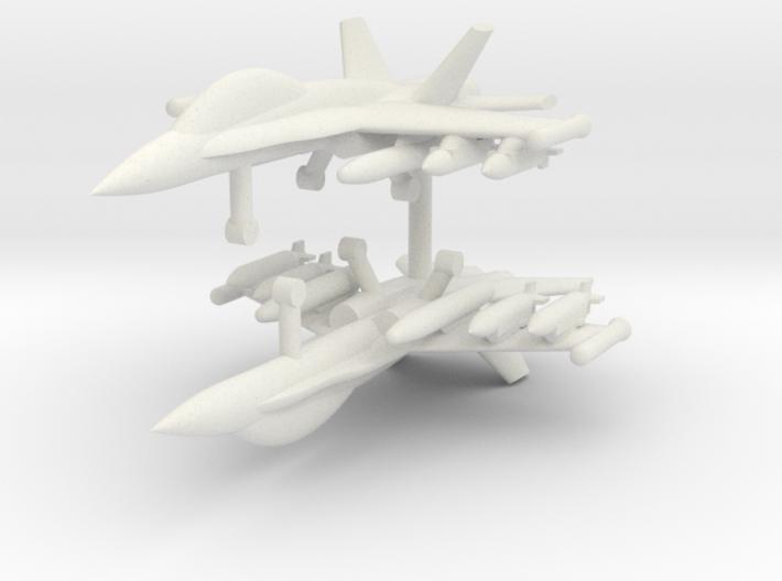 1/285 F-18D Hornet (Strike Loadout) (x2) 3d printed