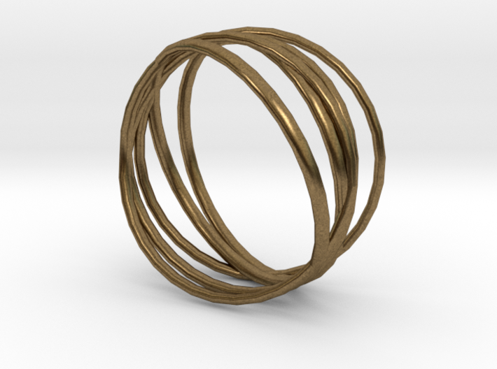 Ring 'Interconnected' / size 7 3d printed