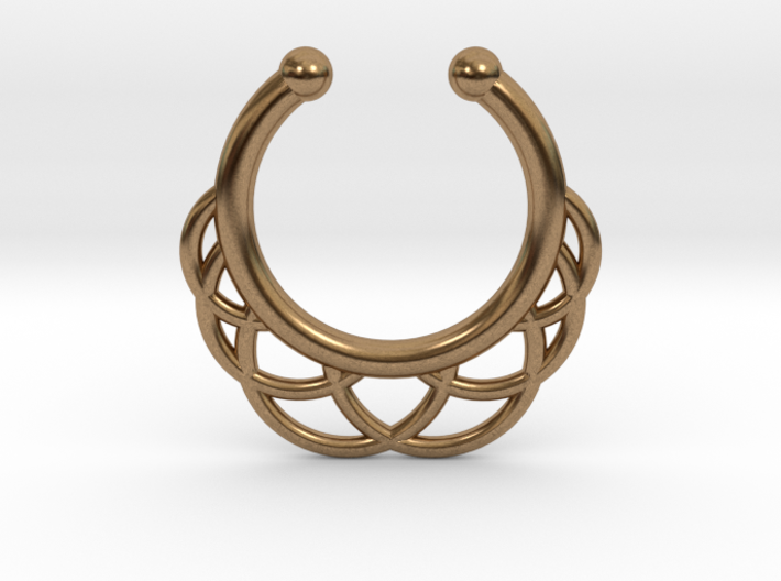 Faux Septum Ring 6 Outer Semicircles 3d printed