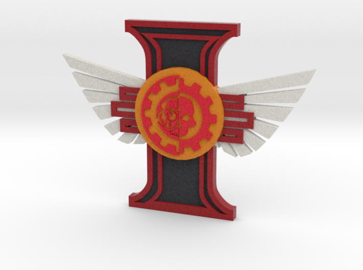 Ridged Rosette Adeptus Mechanicus winged 3d printed