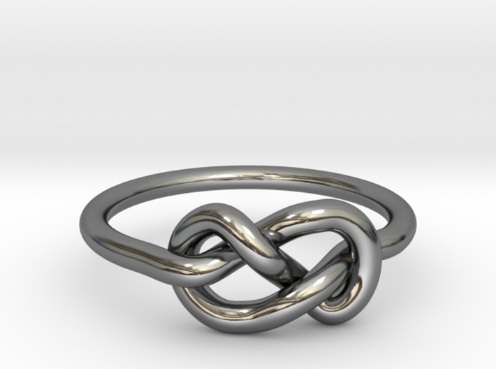 Figure Of Eight Knot Ring 3d printed