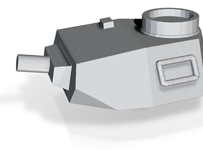 Turret Europe #2, Panzer IV Short Barrel (n-scale) 3d printed
