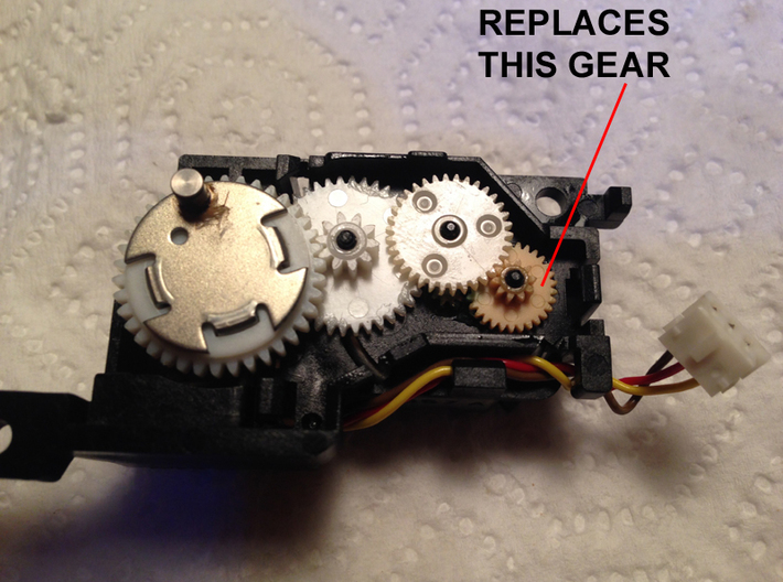 4 x Gears for Macintosh 512k Vintage Floppy Drive  3d printed Replaces the smallest gear.