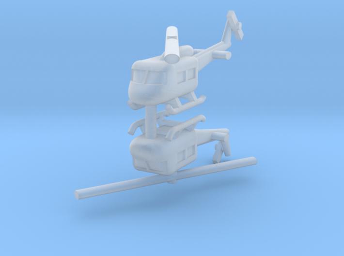 1/144 UH-1 Huey (x2) 3d printed