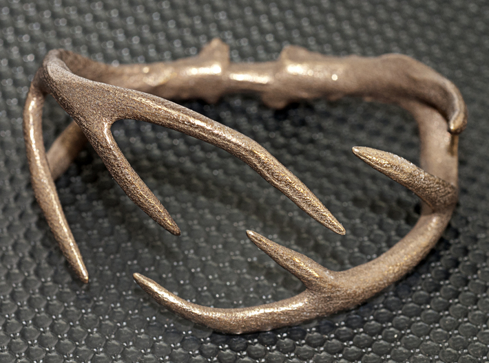 Antler Bracelet Medium/Small (75mm) 3d printed