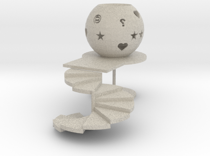 Stairway to heaven/Tealight candle holder/Lichtbol 3d printed