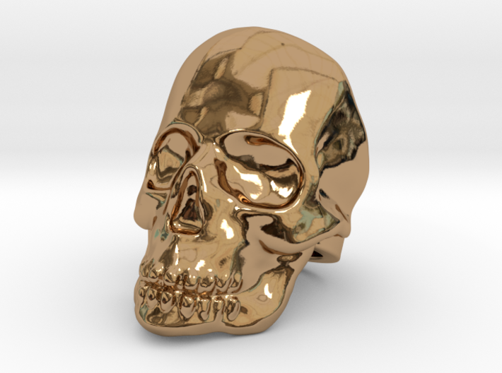 Skull Ring - Size US 10 3d printed