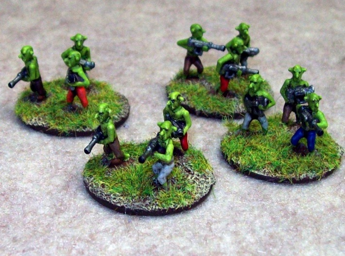 15mm Greenskin Gobbos (x12) 3d printed
