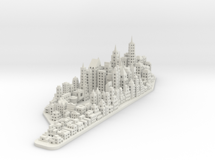 Mini Manhattan 2 Lamp Sculpture 3d printed