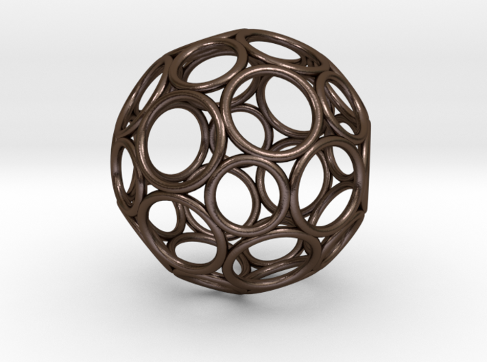 Alternative Buckyball Pendant 3d printed