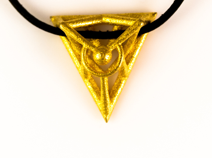 Triangle Line Pendant 3d printed