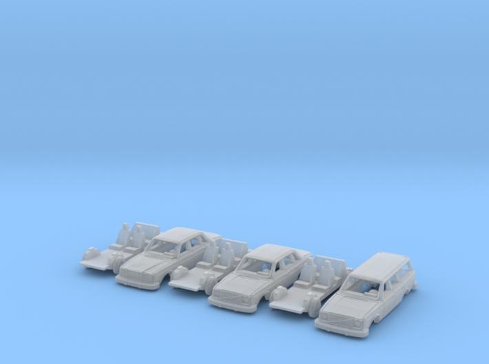 SET 3x Volvo 200-series (N 1:160) 3d printed