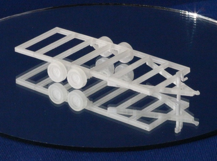 Trailers Frames X2 HO Scale 1/87 3d printed Add a caption...