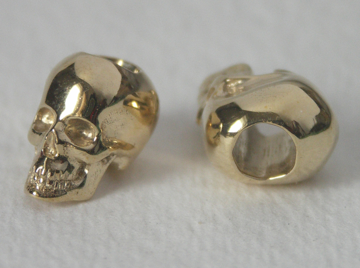 Skull Bead Doubled 3d printed Photo