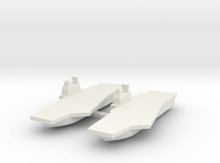 Generic Angled Deck Aircraft Carrier X 2 3d printed