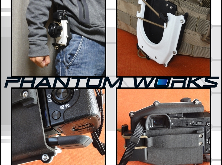 For SONY NEX-6 Camera Holster 3d printed