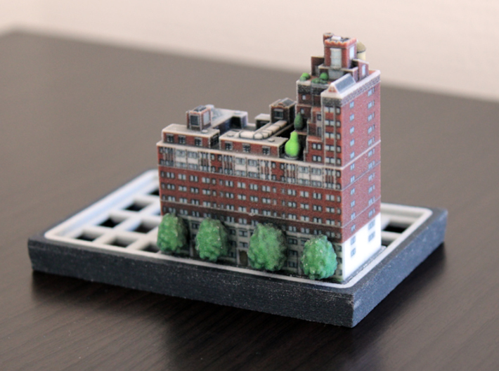 New York set 3 residential building B 5 x 2 3d printed