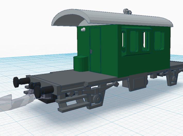 "SBB Güterzugbegleitwagen ""Sputnik"" 3d printed"