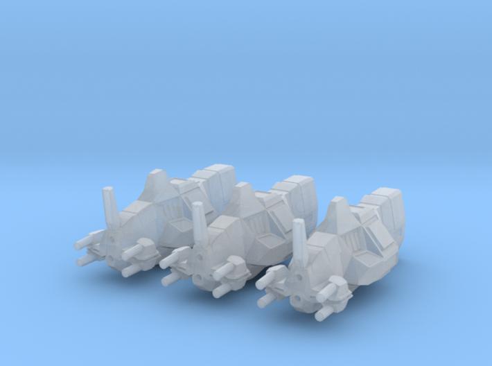 """Taiidan """"Kuudark"""" Assault Frigates (3) 3d printed"""