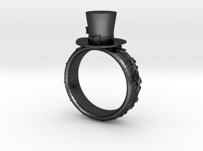 St Patrick's hat ring(size = USA 4-4.5) 3d printed